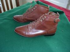 #W Womans Dickens Costume Prairie Granny Victorian High Top Ankle Shoes 11