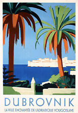 Art Ad Dubrovnik Travel  Deco  Poster Print