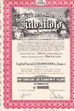 Actions de la Société des mines d'or de Kilo Moto