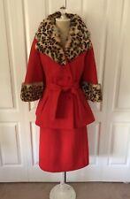 KILLER Red 1960's Lilli Ann Suit