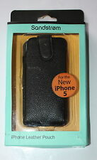 SANDSTROM iPHONE LEATHER POUCH FOR iPHONE 5 - BLACK- NEW