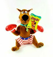 CARTOON NETWORK SCOOBY DOO DOG Plush Toy Boxer Boxing Gloves Hanna Barbera NEW