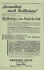 JENA, Prospekt 1936, Kräuterbuch Kräuterhandlung Drogerie Nolte