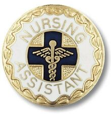 Nursing Assistant Lapel Pin Medical NA Gold Plated Graduation Recognition New