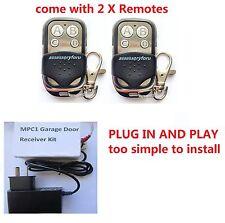 Gliderol GTX2 GTX-2 27mhz GARAGE DOOR REMOTE CONTROL RECEIVER KIT with 2 remotes