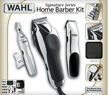 Wahl 30 Piece Hair Cut Home Barber Kit Trimmer Clipper Signature Series