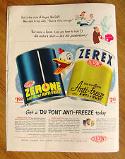 1947 Zerex DuPont Anti-Freeze Zerone Ad