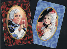 Swap Playing Cards  2 VINT REGENCY  LADY & GENT  TOASTING EACH OTHER    ENG  377