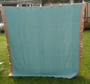 Vintage 100% Wool Faribo -  Faribault - light blue Blanket Twin/ Double?