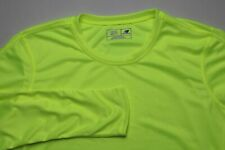 New Balance Womens Long Sleeve Running Shirt Size 2XL Yellow Poly Reflective