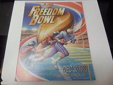 1986 FREEDOM BOWL PROGRAM NCAA FOOTBALL RARE  VS. ARIZONA STATE ANAHEIM