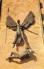 uk5631 coventry cathedral  st michael and the devil statue uk
