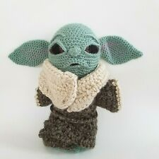 Baby Yoda Amigurumi Crochet The Child Mandalorian Handcrafted CraftyisCool 12""