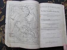 1885 Rambles In Wonderland Edwin J Stanley YELLOWSTONE Foldout Map/Illustrations