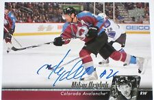 MILAN HEJDUK SIGNED 10-11 UPPER DECK COLORADO AVALANCHE CARD AUTOGRAPH AUTO!