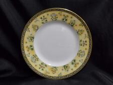 """Wedgwood India, Florals on Tan & Black Bands: Salad Plate (s), 8 1/8"""""""