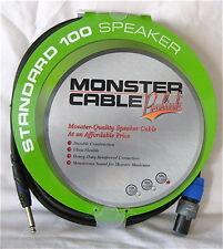 "Monster Prolink Standard 100 Speaker Cable Speak-On to Straight 1/4"" 50ft Guitar"