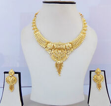 Indian Bollywood Fashion Jewelry Ethnic Bridal Gold Plated Necklace Earrings Set