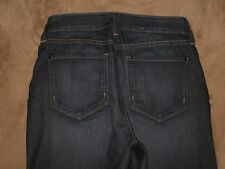 NYDJ Not Your Daughter's Jeans Size 4 Straight Dark Blue Stretch Denim Womens