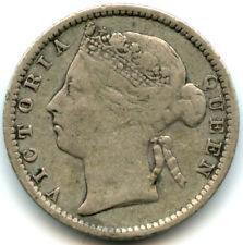 1889 Straits Settlements Silver 10 Cents