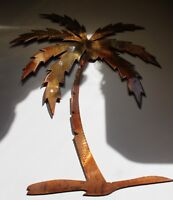 "Palm Tree Metal Wall Art Decor 16"" tall"