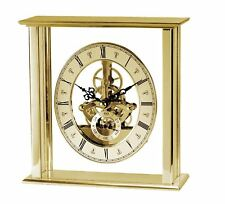 Acctim 36508 Malvern Gold Finish Skeleton Movement Table Mantle Clock