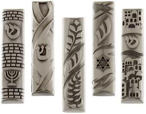 Pewter Car Mezuzah Case with Psalm 91 Verse 5.5cm Jewish