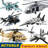 Military Fighter Set Army Aircraft Helicopter Legoed Building Block Brick Toys