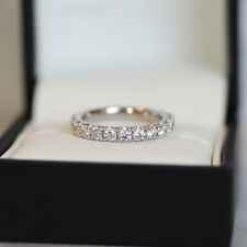 1.35 Ct 950 Platinum Diamond Wedding Engagement Band Ring Round Solitaire Size J