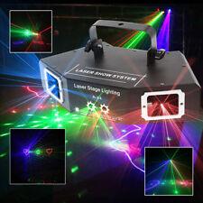DMX 4 Len RGB Pattern Beam Network Laser Light Party DJ Disco Stage Lighting 14W