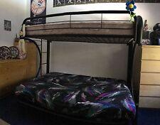 black metal frame bunk beds
