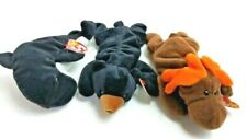 Alaskan Mammals Ty Beanie Baby Lot Waves - Orca Blackie - Bear Chocolate - Moose