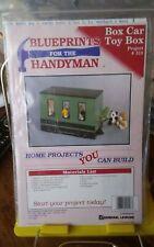 Vintage Blueprints for the Handyman wood pattern Box Car Toy Box NEW