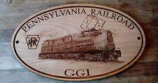GG1 Pennsylvania Railroad Engraved Wooden Sign / PRR Model Railroad Train Clubs