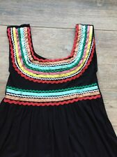 Anthropologie Carolina K NWT $165 festive top multi colored ribbons sz M/L