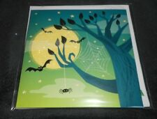 NEW HAPPY HALLOWEEN HAUNTED TREE MOON BATS GLITTER POP-UP 3-D GREETING CARD