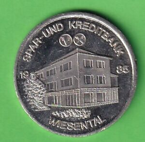 Waghäusel Landkreis Karlsruhe Spar- und Kreditbank Wiesental Zinnmedaille 1985
