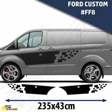 Fits Ford Custom Van Side Racing Stripes Car Stickers Decal Graphics /Tuning