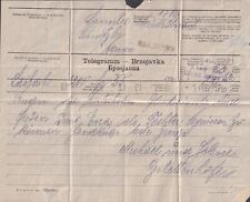 1910? BOSNIA AUSTRIA BANJALUKA TELEGRAM BRZOJAVKA 3-lingual from LAIBACH