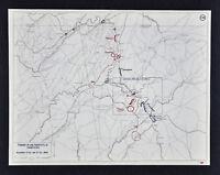 West Point Civil War Map Chattanooga Resaca Rome Atlanta Battles Sherman Georgia