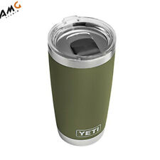 New Yeti Rambler 20oz Tumbler w Slider Lid Stainless Steel Insulated Olive Green