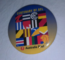 1996 Centenary of AFL button badge 5.5 cm VG condition from Australia Post