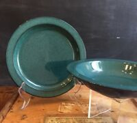 Mikasa CHROMATIC Emerald Green CB401 Salad Plate or Rimmed Soup Bowl