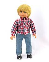 "Blue Denim Cargo Shorts With /""D/"" Ring Fits 18/""American Girl Doll Boy Logan!"