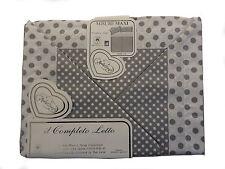 Completo Letto in Cotone  Matrimoniale Set Sotto Sopra e Federe