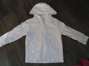 Kids White Hooded Top 2-3 yrs
