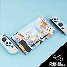 Replacement Shell Case Cover Joycon for Nintendo Switch - Light Blue Osaka Cats