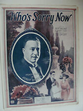 Who's Sorry Now 1923 Kalmar Ruby & Snyder Barbelle art cover, Josef Diskay photo