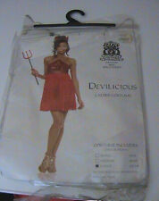 Sexy Adult Devilicious Costume Devil Sequin Babydoll Halter Dress Womens Large