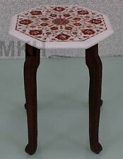 end tables side table modern vintage marble work wood stand hand made decor home